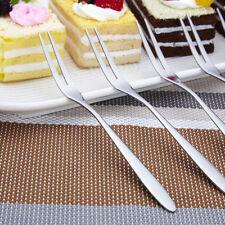Fruit Fork Stainless Steel Two Prong Forks Cake Forks Picnic Salad Fork