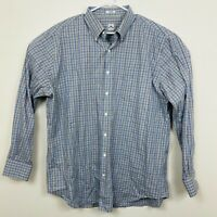Peter Millar Long Sleeve Oxford Shirt Plaid Mens Sz XL White Green Brown Blue