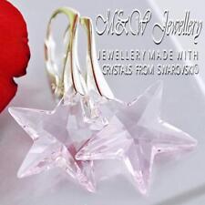 925 Sterling Silver Earrings Crystals from Swarovski® 20mm STAR - Rosaline