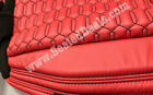 Jeep Wrangler Jk 4door Red Custom Leather Seat Covers Wblack Hexagon Stitching