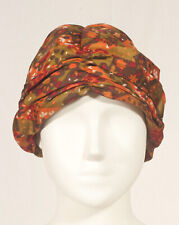 '60'S FRENCH VINTAGE EVENING PRINT TURBAN 58 SIZE L