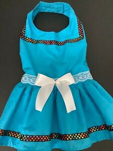 Handmade  doggie blue dress