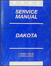 2002 Dodge Dakota Service Manual OEM Dealer Repair Shop Book Pickup Truck