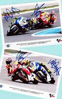 Marc MARQUEZ - Valentino ROSSI - 2 TOP AK Bilder - Print Copies + WM-Foto signed