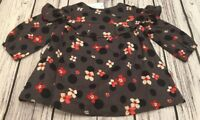 Baby Gap Girls 0-3 Months Lightweight Gray / Red Floral Dress & Bloomers. Nwt