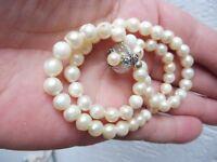 Schöne, alte Perlenkette __mit 925 Silber -Schließe__!