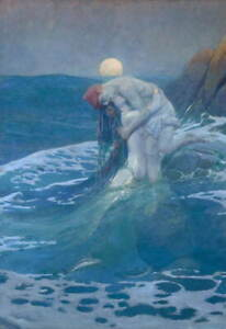 Howard Pyle The Mermaid Poster Reproduction Paintings Giclee Canvas Print