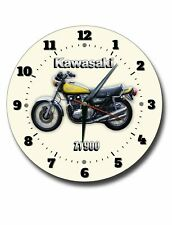 KAWASAKI Z1900 250MM DIAMETER ROUND METAL CLOCK. JAPANESE MOTORBIKE