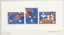 RC002893 POLYNESIE BLOC BF n° 3 - JEUX OLYMPIQUES DE MONTREAL SPORT MNH NEUF **