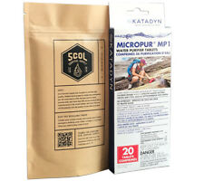 Survival Water Treatment Pack with Whirl Pak Bags and Katadyn Micropur MP1