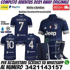 Maglia Juventus Away Blu 2020 2021 Ronaldo Dybala Kulusevski Bambino Originale