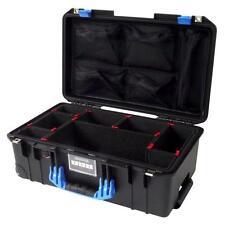 Black & Blue Pelican 1535 with TrekPak dividers & Lid organizer.
