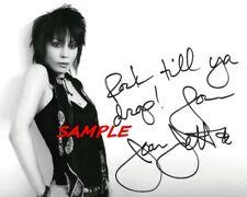Joan Jett Rock Till Ya Drop! Signed 8x10 Autographed Photo Reprint
