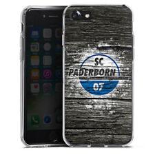 Apple iPhone 7 Silikon Hülle Case - SC Paderborn Holz