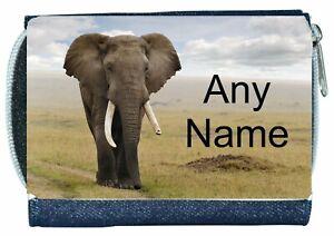 Denim Purse With ELEPHANT Design *Personalised*