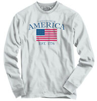 United States Of America USA Patriotic Gift Long Sleeve Tees Shirts T-Shirts