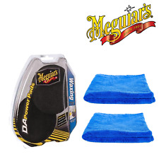 Meguiar's Da Black Waxing Power Pads & 2 Microfibre Towels