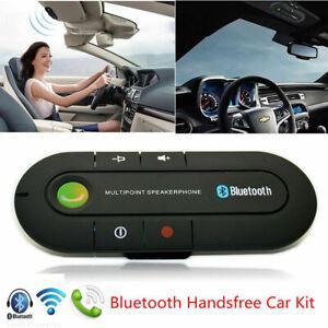 Wireless Bluetooth Hands Free Speaker Car Kit Visor Phone Smart Mobile Clip A2Y4