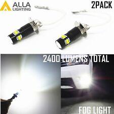 Alla Lighting 6000K White H3 Fog Light Bulb Direct Replacement Convert Bulb Lamp