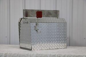 Heavy Duty Aluminum Diamond Plate 16 Gauge Mailbox Jumbo Size With Name Plate