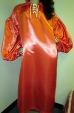 "Vintage: Satin! ""Special� High Gloss Tangerine Bridal Satin Balloon Shirt Gown"