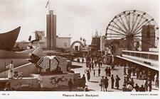 Pleasure Beach Blackpool Fair Amusement Park unused RP old pc Saidman Bros