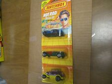 """Matchbox 1991 Three Pack """"Hot Rod"""" - blistercarded"""