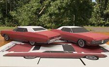 Papercraft EZU-make 1967 Pontiac Grand Prix convertible top up Paper toy Car