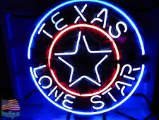 """Texas Lone Star Beer Pub Bar Neon Sign 17""""x14"""" From USA"""