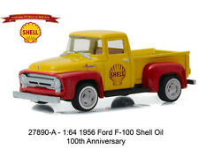 Greenlight 1956 Ford F-100 Shell Oil 100th Anniversary 1:64 Yellow 27890A