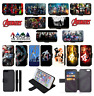 MARVEL AVENGERS SUPERHERO Wallet Flip Phone Case iPhone 4 5 6 7 8 Plus X comp