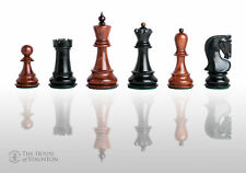 "The Zagreb Elite Chess Set - Pieces Only - 3.875"" King - Golden Rosewood & Eboni"