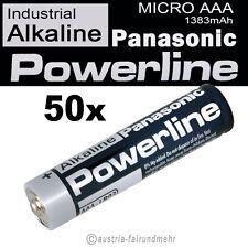 50x MICRO AAA LR03 MN2400 Batterie PANASONIC POWERLINE INDUSTRIAL