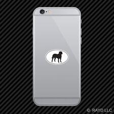 Bullmastiff Euro Oval Cell Phone Sticker Mobile Die Cut