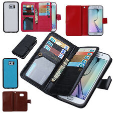 Magnetic Filp Wallet Phone Case Purse Card Holder for iPhone 7 6S Plus Samsung