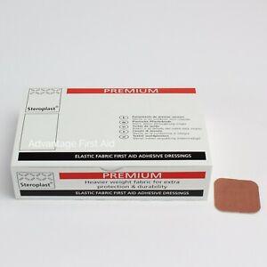 Premium  Fabric First Aid Sticking Plasters. 4 x 4cm - Square- Various Quantity.