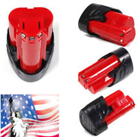 For Milwaukee 48-11-2401 M12 12V 12 Volt Red Lithium-ion Extended Battery 2.5AH