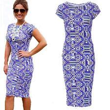 Shift Mid-Calf Geometric Dresses for Women