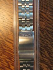 VINTAGE STAINLESS Bulova Accutron SPACEVIEW Astronaut BAND New Old Stock LONG!