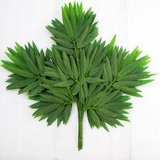 2pcs Green Artificial Bamboo Leaf Vine Plant Garland Fake Foliage Decoration