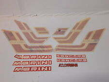 Kit adesivi stickers decal decalcomanie carena MORINI KANGURO 350 rosso red