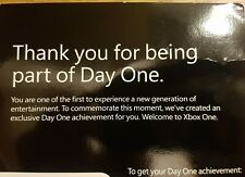Xbox One  DAY ONE Achievement DLC Code Card - Extremely Rare!!!