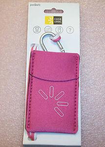 QTY (3) CASE LOGIC PINK UNP-2 POCKET PHONE CAMERA IPOD ID CARRYING CASE