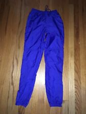 VTG 80s NIKE Swoosh Royal Blue Unlined Gray Tag Nylon Windbreaker Pants Sz S