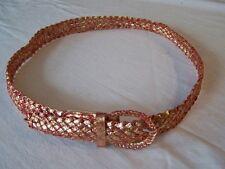 gold-roter Cinturón trenzado largo 110cm Ancho 3cm # GQ