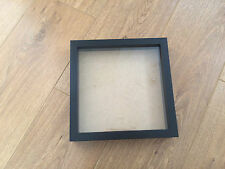 Square Shadow Box, Wooden Picture / Photo Frame - NEW 9x9 inch - BLACK