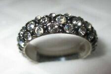 Brighton ring size 7 with crystals accenting a black surface