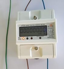 120/480V Electrical KWh Meter - Up to 100 Amps internal CTs. DIN rail type