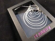 "Super Cool Playboy ""Multi Hooped"" Crystal & Rhodium Plated Bunny Necklace Boxed"