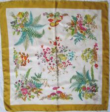 -Superbe Foulard GUCCI  100% soie  TBEG vintage scarf 85 x 86 cm